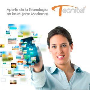 Tecnologia y mujer moderna